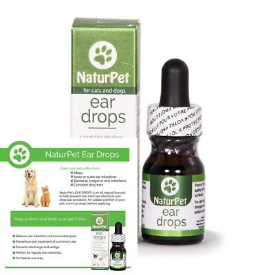 Pet Clear Ear Fungus Yeast Bacteria Infection Mites Dog Drops Medicine Treatment