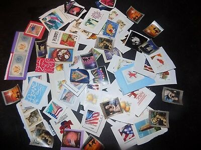 >>>>  Uncancelled U.s. Stamps  Varity Some Even Off Paper Total 50.00