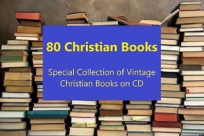CHRISTIAN BOOK COLLECTION! -Vintage -All on Disk - Religious Books - Bible Study
