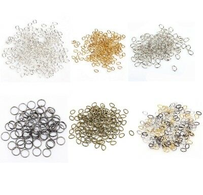 Quality Single Jump Split Rings Open 3mm Findings Jewellery Pack 10 - 1000 UK