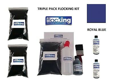 Royal Blue Flocking Kit Large Triple Flocked Dash Full Kit Flocking Car Diy