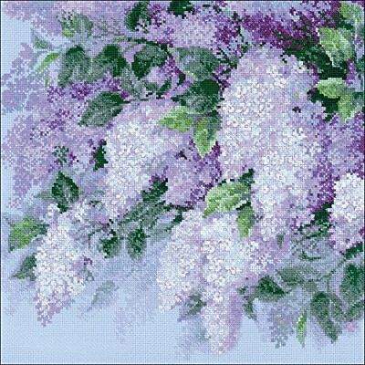 Lilacs after the Rain - Cross Stitch Chart - Digital Format
