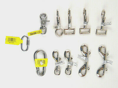 Assorted Lot Bolt Trigger Spring Snap Double End Swivel Rigid 11 Pack