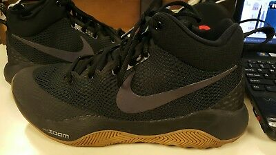 new style caa05 be98c Nike Zoom Rev Basketball Shoes Black White-Anthracite Men s Size 10 852422  NWOB