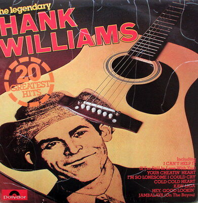 Hank Williams - 20 Greatest Hits Lp - In Excellent Condition - Aus Pressing