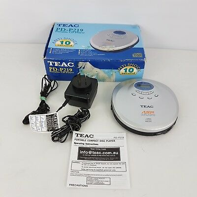 TEAC - PD-P219C - Portable CD Player - Discman - In Box - Good Condition IT2