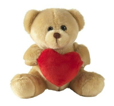 """VALENTINES DAY Teddy Bear Gift With Love Heart Soft Toy 5"""" Anniversary UK"""