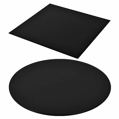 vidaXL Table Top Glass Black Tempered Replacement Protection Cover 11 Sizes