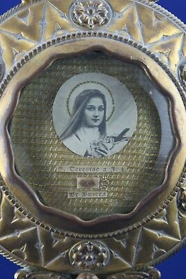 † St Therese Of Lisieux Reliquary Monstrance Sancta Teresia Jesu Infante France