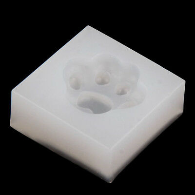 Silicone Cat Paw Mold Making Jewelry Pendant Resin Casting Mould DIY Craft Tool