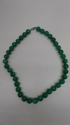 Old String Vintage Green Jade Beads