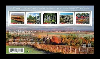 Canada Stamps - Souvenir Sheet - 2016, UNESCO World Heritage #2889 - MNH