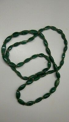 Old Vintage Jade Beads Knotted String Beads