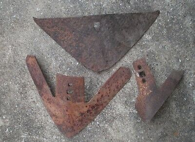 VTG 3 pc Lot RUSTIC DECOR  PLOW BLADES Tractor Farm Primitive Cultivator  BARN