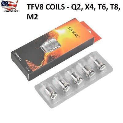 Authentic SMOK² TFV8 Baby / Big Baby Beast Coils T8 / T6 / Q2 / X4 lot .