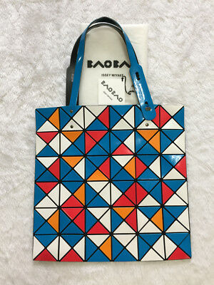 e23dc8b5a174 Used Auth Japan Bao Bao Issey Miyake Limited AT Random in Mix Blue Tote Bag