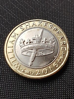 2016 Shakespeare Histories Crown & Dagger/Sword £2 Two Pound Coin 180504da