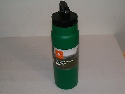 OZARK TRAIL 24oz VACUUM INSULATED BOTTLE GREEN FREE SHIPPING NEW!!!