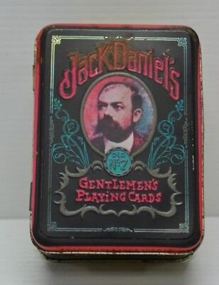 Jack Daniels Gentleman's Playing Cards 2 Complete Packs Of 52 In Collectors Tin