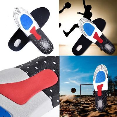 Gel Orthotic Sport Running Insoles Insert Shoe Pad Arch Support Cushion Unisex