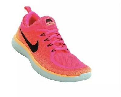edada1d13aa5 NIKE Free RN Distance 2 Women Pink Black Athletic Running Shoes 863776-600  sz 8