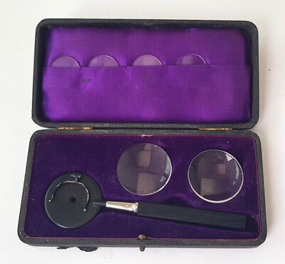 Antique Dr. Liebreichs Augenspiegel ophthalmoscope in original box