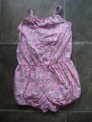 Girl's Cotton On Pink Floral Fairy Wings Jumpsuit/Playsuit Size 4 VGUC