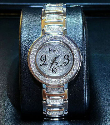 44d07ca1fb4 PIAGET POLO 18K White Gold All Diamond 25th Anniversary Ladies Watch ...