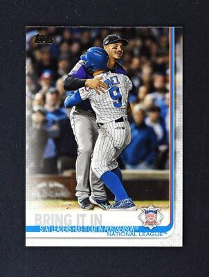 2019 Topps Series 1 Base #216 Bring It In - National League