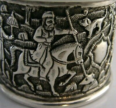 SUPERB OTTOMAN PERSIAN SOLID SILVER NAPKIN RING c1900 EASTERN ANTIQUE
