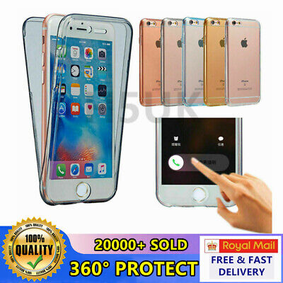 IPhones Silicon Case Cover Slim Front and Back Full Body Shockproof 360°