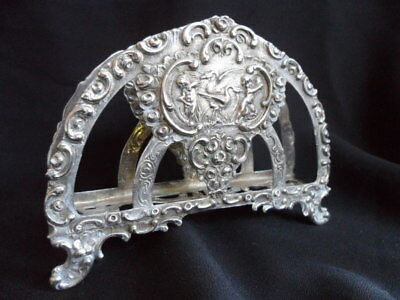 Antique Silver Letter Holder with Cherubs