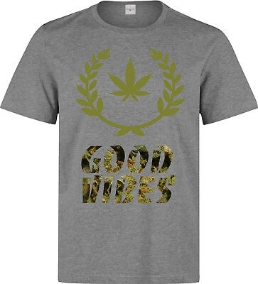 E1SYNDICATE DAMEN T-SHIRT GOOD VIBES GANJA WEED SUPREME DISOBEY BOY DC 1369wo