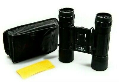 Binoculars with Zoom Case & Strap Compact Bird Watching Sight Day Folding 10x25
