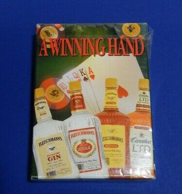 Playing cards vintage A Winning Hand Fleischmann's unopened pack poker size ad