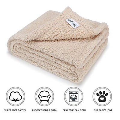 furrybaby Premium Fluffy Fleece Dog Blanket, Soft and Warm Pet Throw for Dogs &