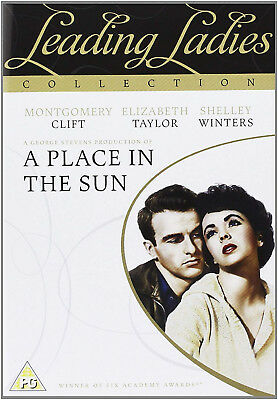 A PLACE IN THE SUN DVD Montgomery Clift Elizabeth Taylor UK Rele New Sealed R2