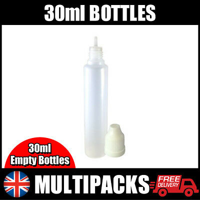 Empty 30ml Bottles. DIY Liquid, Empty Dropper Bottles. Plastic LDPE Squeezable