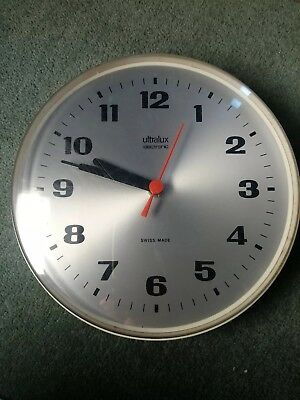 Vintage Ultralux Clock retro mid century modern wall kitchen swiss electronic