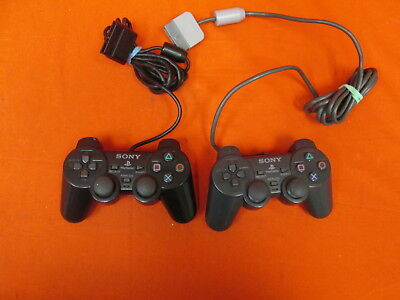 Lot Of 2 Sony OEM PlayStation 2 Dualshock 2 Controllers 7181