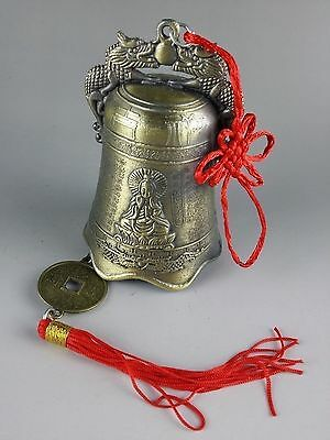 Collectibles Chinese Tibetan Buddhism Temple Copper Bells Statues  sl