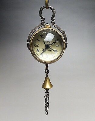SUPERB COLLECTIBLES COPPER CARVED Crystal ball CLOCK WATCH PENDANT  aoo