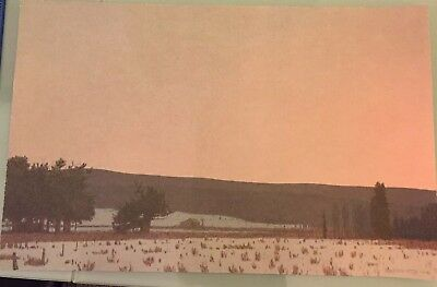 RUSSELL CHATHAM Signed WINTER DAWN AT SOUTH PARK Numbered LITHOGRAPH 1 of 375