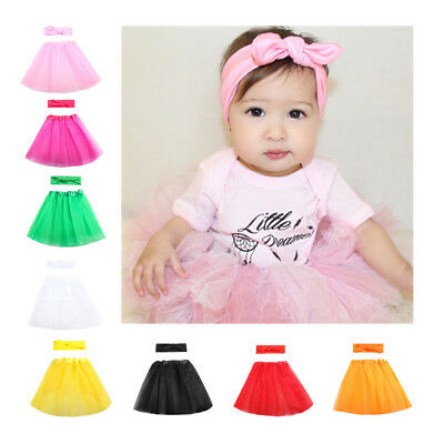 Newborn Baby Girls Tutu Clothes Skirt Headbands Photo Photography Props Outfits