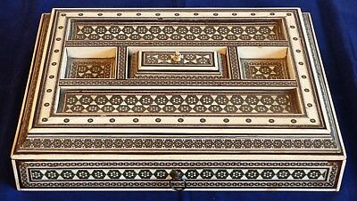 RARE Large Antique 19th Century Sadeli Anglo Indian Ink Stand–Bombay /Circa 1855