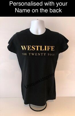 Westlife Twenty Tour T-shirt kids/adults personalised, also-hoodies caps avail