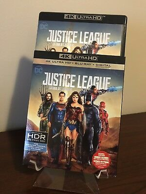 Justice League (4K Ultra HD/Blu-ray, Slipcover) MINT CONDITION