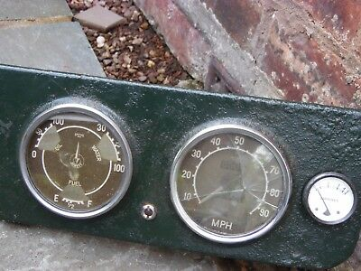 Vintage Lorry Gauges Dash Instrument Surround Speedometer Ampere Fuel Water Oil