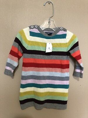 b96844b2395 BABY GAP GIRL Cable Knit Sweater Festive Girls Dress Red Size 6-12 ...