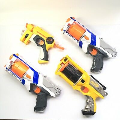 Nerf Gun Lot N-Strike MAVERICK, STRONGARM, NITE FINDER!! All Work Great!!